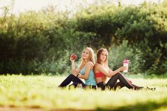 Girlfriends two girls stock image
