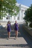 Girlfriends walk Stock Photos