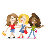 Girlfriends walking attractive friendship Royalty Free Stock Photo