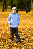 Girlie & autumn. Girlie & yellow park, autumn 2009 royalty free stock image