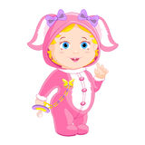 Girlie dans un costume de lapin Photo libre de droits
