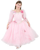 Girlie in pink clothes. On a white background royalty free stock photos