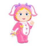 Girlie w królika kostiumu Zdjęcie Royalty Free