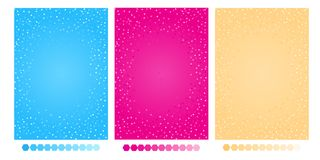 Girlish cute background with shiny sparkles in hot pink, blue, yellow color. royalty free illustration