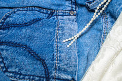Girlish jeans Stock Photography