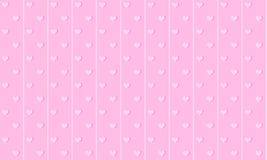 Girlish pink cute background with lines and small hearts. Backdrop for kids party. royalty free illustration