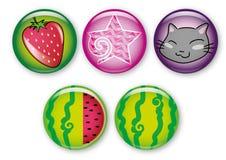 Girlish pins Royalty Free Stock Image