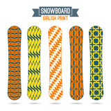 Girlish prints for snowboards Stock Images