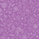 Girlish romantic pattern Royalty Free Stock Image