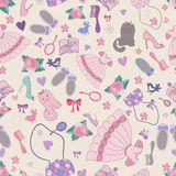 Girlish seamless patten Stock Photography
