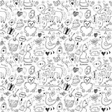 Girlish seamless pattern stock illustration