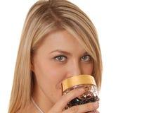Girlish Wine Stock Photography