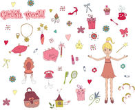 Girlish world Stock Photography