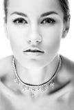 Girll in halsband royalty-vrije stock foto's