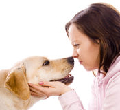 Girln and dog Royalty Free Stock Photos