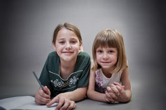 Girls 01 Royalty Free Stock Photography