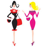 Girls. 2 girls (Everything depicted within this illustration is designed by me - Bsilvia vector illustration