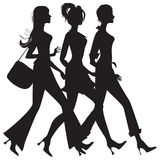 Girls. Three girls Royalty Free Illustration