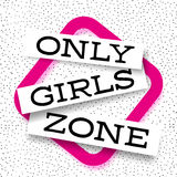 Only Girls abstract pitahaya background vector promo banner Stock Image