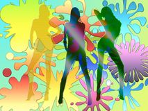 Girls abstraction background Royalty Free Stock Photography