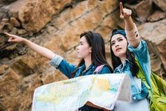 Girls in adventure. Stock Photos