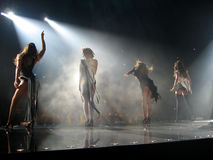 Girls Aloud concert Stock Images