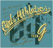 Girls athletics Stock Image