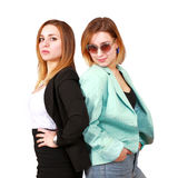 Girls attitude. Two young women with attitude stock images