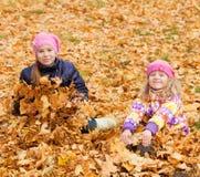 Girls at autumn Stock Image