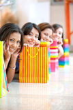 Girls with bags Royalty Free Stock Image