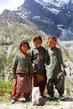 Girls from Baltistan, India Stock Photography