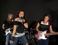 Girls Band Royalty Free Stock Photos
