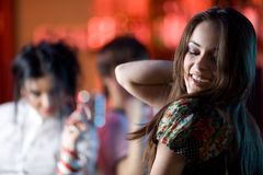 Girls in bar Royalty Free Stock Images