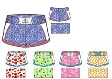 Girls Barbados shorts design template Stock Image
