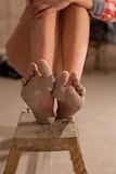 Girls bare feet  Royalty Free Stock Image