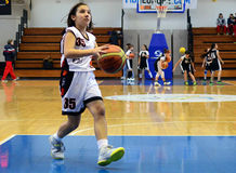 Girls basketball action Royalty Free Stock Photo