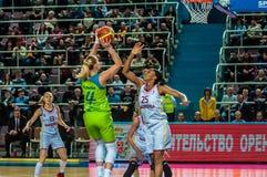 Girls basketball tournament Stock Photos