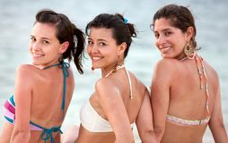 Girls at the beach Royalty Free Stock Image