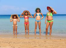 Girls on the beach Royalty Free Stock Image