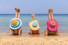 Girls on the beach Stock Photos