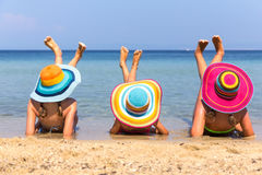 Girls on the beach Stock Photo