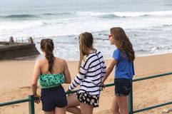 Girls Beach Stock Photography