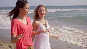 Girls On The Beach stock footage