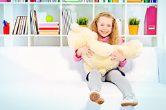 Girls bear Stock Photography