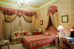 Girls bedroom. A girls bedroom with a single bed Royalty Free Stock Image