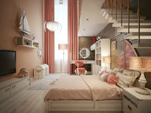 Girls bedroom in classic style Stock Photography