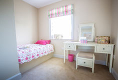 Girls Bedroom. A girls bedroom in a family home Royalty Free Stock Photography