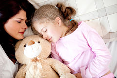 Girls bedtime Royalty Free Stock Photo