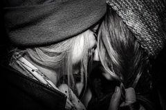 2 girls. Befor a kiss Stock Photos