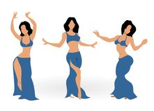 Girls belly dancing Royalty Free Stock Photos